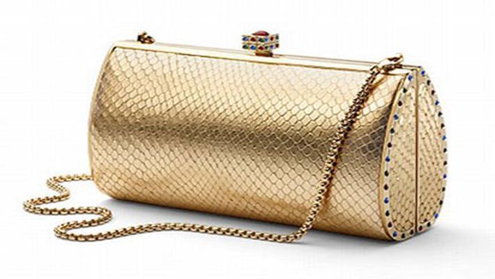 Golden Color Clutch Bag