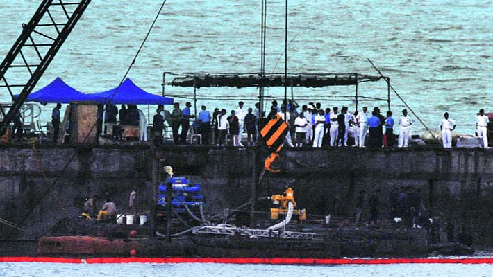 Five bodies recovered so far from ill-fated submarine Sindhurakshak