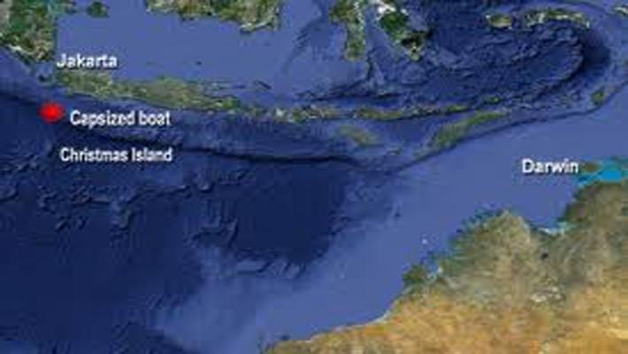 Boat carrying over 100 asylum seekers capsizes near Christmas Island, Australia