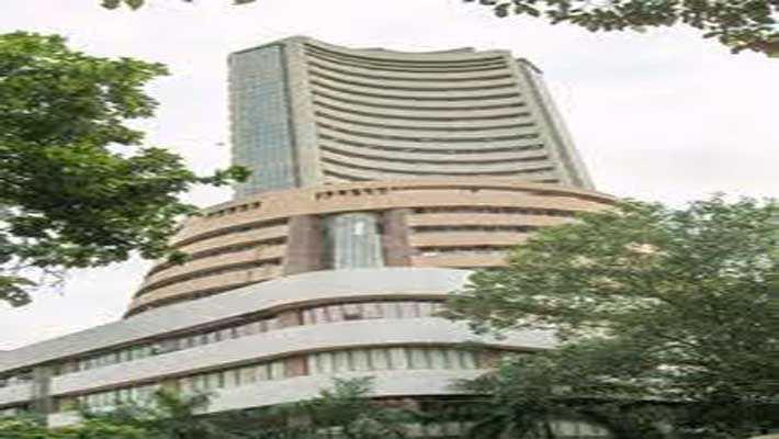 Sensex gains by 148 points in noon trade