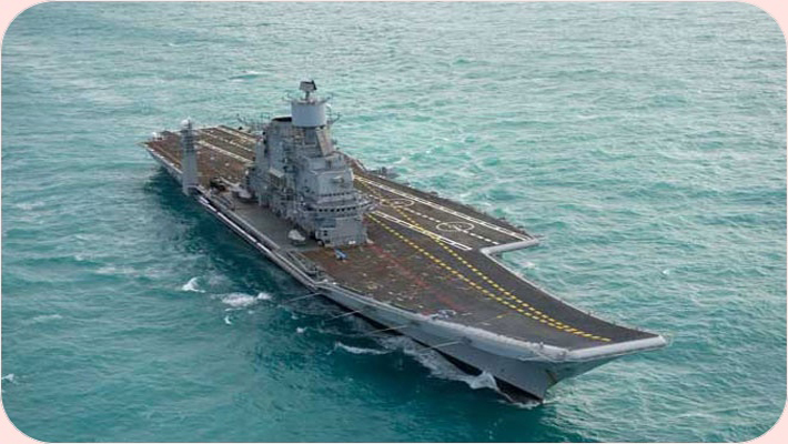 India's second Aircraft Carrier, INS Vikramaditya being inducted into the Navy