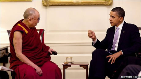 Obama meets Dalai Lama over Chinese objections