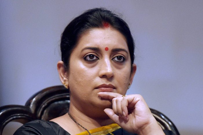 """Irani takes new charge: """"New role shows PM's faith"""""""