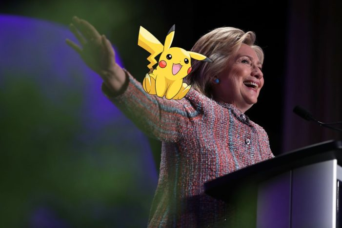 Hillary Clinton jumps on the Pokemon Go bandwagon