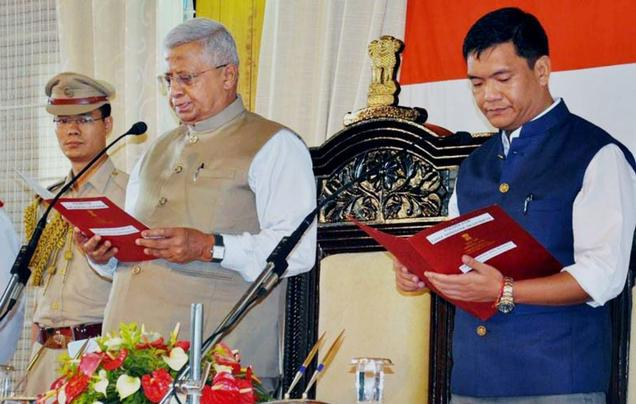 Pema Khandu sworn in as Arunachal Chief Minister