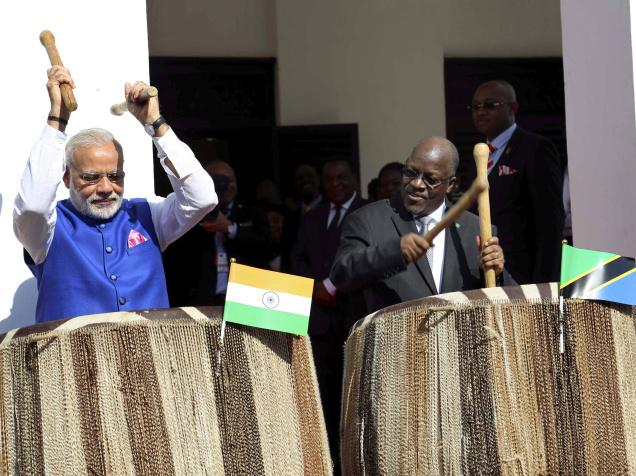 Modi's drumming skills enthral Tanzanians