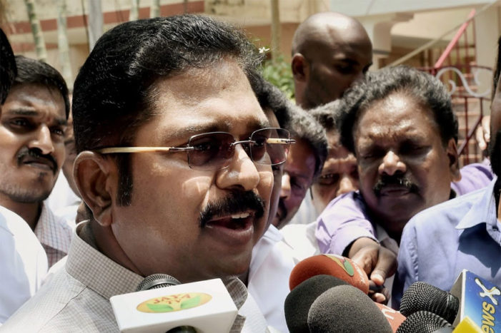Dhinakaran files nomination for RK Nagar by-polls