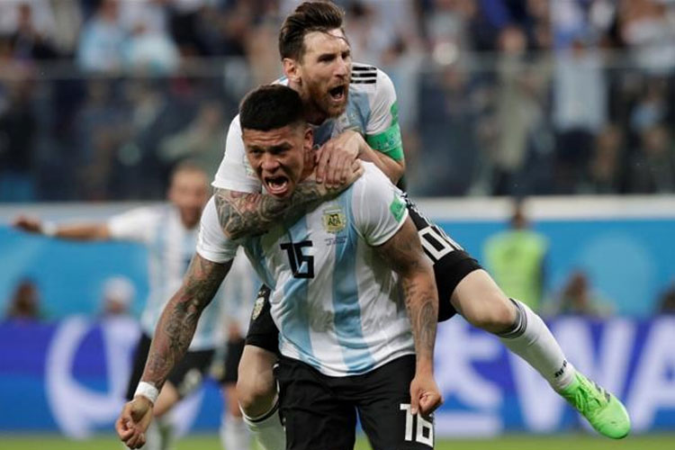 FIFA World Cup 2018: Rojo's last-gasp rescue act takes Argentina to last-16