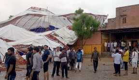 14 killed, about 50 injured as pandal collapses during religious programme in Rajasthan's Barmer
