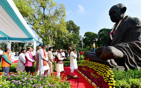 President, PM Modi pay homage to Mahatma Gandhi on his 150th birth anniversary