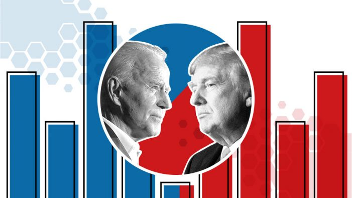 Biden within tsriking distance of 270 with wins in Wisconsin, Michigan