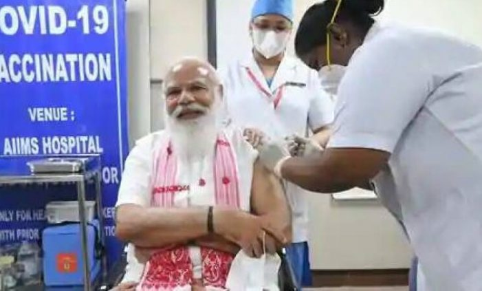 PM Modi takes first dose of COVID-19 vaccine at AIIMS