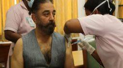 Kamal Haasan receives COVID-19 vaccine shot