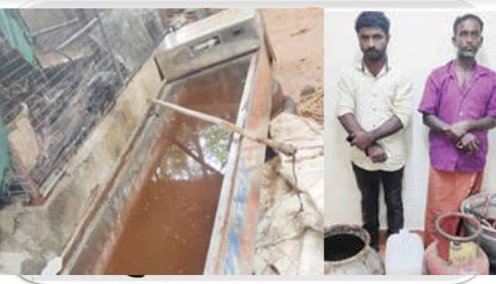 Illegal arrack distillation inside mobile mortuary in Adoor; Ambulance driver arrested