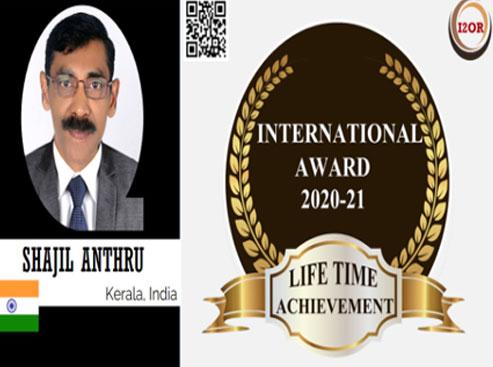 Lifetime Achievement Award for Shajil Anthru