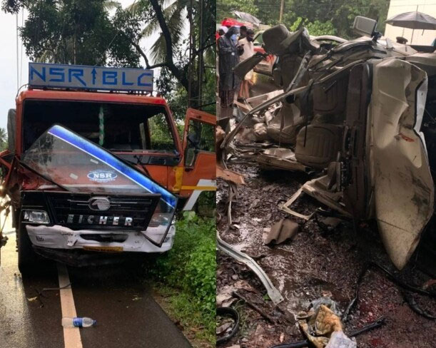 5 killed in car-lorry smash at Ramanattukara in Kozhikode